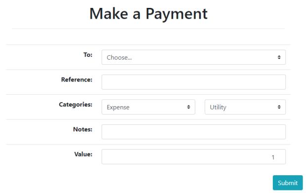 make a payment ui